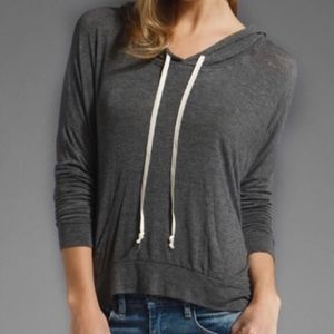 Brandy Melville Gray Layla Pullover Hoodie Top OS
